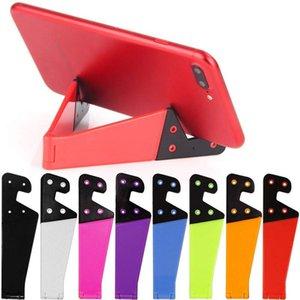 전화 홀더 모바일 모양의 접이식 V는 무료 DHL의 배송 다채로운 휴대용 태블릿 PC 패드 전화 손 홀더 받침대