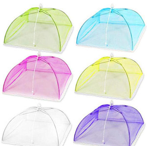 Mesh Screen Food Cover Pop-Up Mesh Screen Protect Food Cover Foldable Net Umbrella Cover Tent Anti Fly Mosquito Kitchen Cooking Tool LSK243