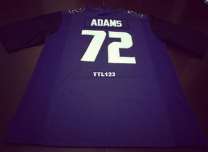 Men # 72 Trey Adams nero bianco o viola Washingtonn Huskies Alumni Collegio Jersey o custom qualsiasi nome o numero di maglia