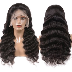 Ulamaz 13X4 Loose Deep Lace Front Wigs Human Hair For Black Women Pre Plucked Frontal Wigs Human Hair 150% Density