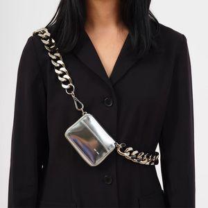 Kara sac épais chaîne poches mode croix diagonale poitrine Coin Sac à bandoulière Ins super feu Mini PU cuir Petits Sacs Femme Sac bandoulière