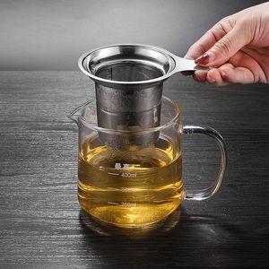 304 crépines thé en acier inoxydable grande capacité thé infuseur Passoire Filtre à eau bouilloires Tasses outils de thé de Coupes