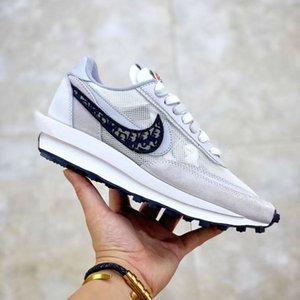 Con la caja de Dior SACAI x x LDW Äffle Diseño Zapatos de baloncesto Híbridos Zapatos Hombres Mujeres retro oblicua Jumpman Logos zapatillas de deporte los Chaussure