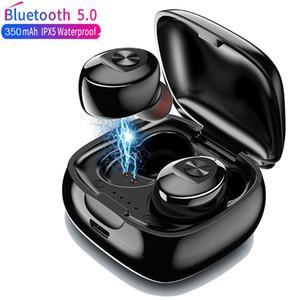 TWS Wireless Headphones 5.0 True Bluetooth Earbuds IPX5 Waterproof Sports Earpiece 3D Stereo Sound Earphones with Charging Box (RETAIL)