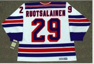 Benutzerdefinierte Männer Jugend Frauen Jahrgang # 29 Reijo Ruotsalainen New York Rangers 1984 CCM Hockey-Jersey-Größe S-5XL oder benutzerdefinierte beliebige Namen oder Nummer