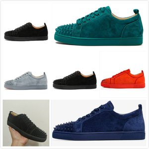 progettista shoes Spike Red bottom Sneakers leather shoes junior calf casual loafer shoes Suede lussuoso men women Party