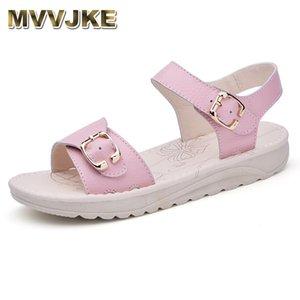 MVVJKE Sandales Femme Chaussures Femme Sandales d'été confortables dames Slip-on Flat