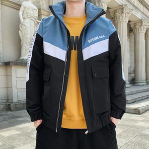 BROWON Vestuário 2020 Mens casacos de inverno e Coats Casual Grosso impermeável com capuz Jacket Homem Jacket inverno quente