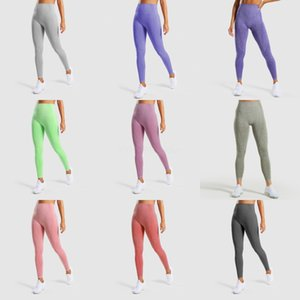 Women Denim Yoga Pants Sports Running Compression Stretchy Fitness Leggings Seamless Bodybuilding Tights Sports Trousers#Y4#243