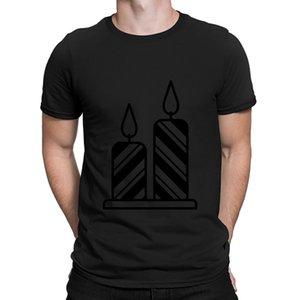 Bougie Party T-shirt graphique drôle Designer Casual coton O-Neck