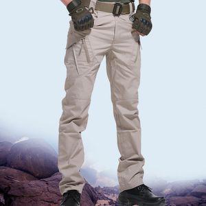 Scione pantalones tácticos hombres swat combate pantalones del ejército casual hombres Hikling pantalones hombre carga impermeable tamaño asiático