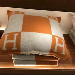 Nuovo arriva H Lettera Cuscino Federa Cuscino in maglia a quadri Europa Copricuscino divano-letto decorazioni 45 * 45 centimetri