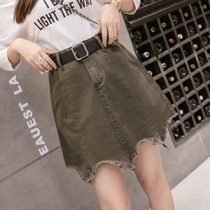 7vcYg Huajianting 2020 outdoor wear all-match large size female Huajianting 2020 outdoor wear all-match large size female Denim skirt denim