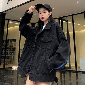 SONDR 2020 NOVO Primavera Outono Denim Jacket mulheres coreana feminina bf Harajuku solto Tooling Jacket Rua Belo shirt Jeans Coats