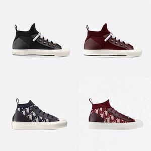 Scarpe B23 Oblique Sneaker Uomo Donna-Scarpe alti 3M Fiori tecnico tela bianca nera Low-cut formatori suola di gomma con la scatola
