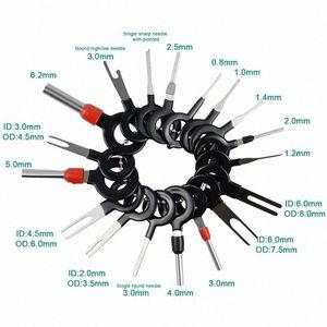38pcs 11pcs 21pcs Car Automotive plug Terminal Remove Tool Set Key Pin Car fio elétrico Crimp Connector Extractor Kit GjZx #