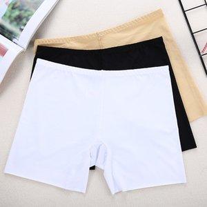 Women wrap ice silk boy seamless underwear Tight pants Flat shoes shorts flat anti-gone insurance shorts leggings