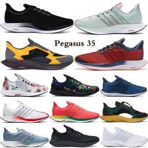 Zoom Pegasus 35 turbo triple nero mens scarpe da donna lupo grigio pugno Shanghai calde orbita rossa Foam fly stilista sportive Trainer scarpe da tennis correnti