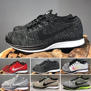 2020 Wholesale Men Women running Racers casual Shoes Trainer Chukka Black Red Blue Grey Lightweight Breathable Walking Sneakers Sports Shoe