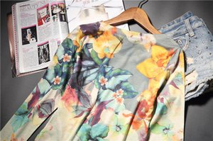 Fashion hot drilling floral printed t shirt women o-neck long sleeve graphic tees basic tee shirt femme 4XL 5XL 2020 spring new CX200709