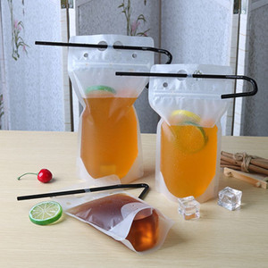 250 ml 350 ml 500 ml 700 metros esmerilado bebida bolsos de las bolsas de la cremallera Stand-up Jugo de plástico para bebidas de té de la leche envasado reajustable con las bebidas alcohólicas Bolsas