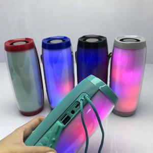 TG157 Bluetooth Speaker LED Flashing Light Portable With Rope Outdoor Loundspeaker Stereo Surround Speaker Subwoofer FM TF Card