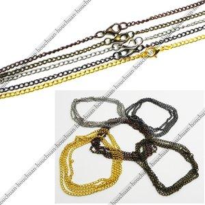 80CM 5 Colo Golden   Silver   Black   Bronze Vintage Style Alloy Pocket Pendant Fob Holder Watch Necklace Chain