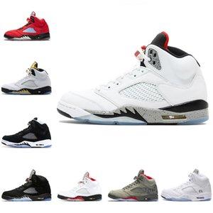 13 Flint 2019 5 langue rouge argent 5S feu 11 11S Space Jam blanc pâle 4s Bred chat noir Bred chaussures de basket-ball espadrille