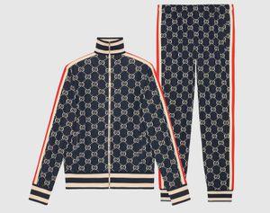 Letter printing New Tracksuit Fashion Zipper cardigan Men Sportswear Two Piece Sets Pants Sporting