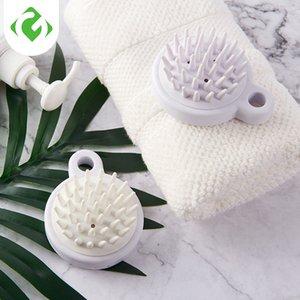 Shampoo brush Bath brush Soft glue Massage Plastic Bathing tool Cleaning the scalp comb body Washing hair Round 1pc