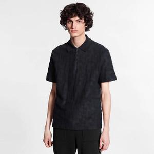 20SS Andys style serviette foncé Motif Jacquard shirt Oversize Coton Mode Hommes Femmes en vrac Couples Polo T-shirt HFXHTX352