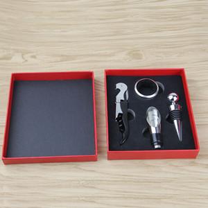 Bottiglia di vino Opener Suit Seahorse Knife Kit apriscatole versatore 4 pezzi Set in acciaio inox Confezione regalo bar a bere Forniture 5 5JY C2