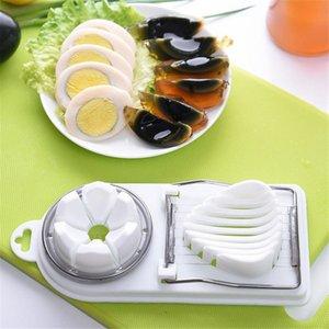 Egg Slicer 2 in1 Cut Multifunctional Kitchen Egg Slicer Sectione Cutter Mold Flower Edges Gadgets Home Tool
