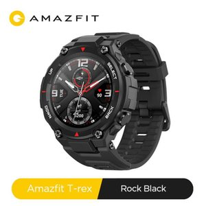 Android için Youpin CES Amazfit T-rex Smartwatch Kontrol Müzik 5ATM Akıllı İzle GPS / GLONASS 20 Gün Pil Ömrü MIL-STD T-rex Smartwatch
