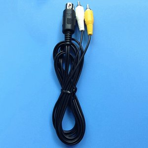 100pcs lots Top quality 1.8m Black Length round cable for Sega Genesis1 Game System Comosite RCA Audio Video Cable