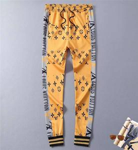Newest Mens Pants Streetwear Men Luxurious Sweatpants Letters Strped Side Joggers Track Pant Clothes M-2XL