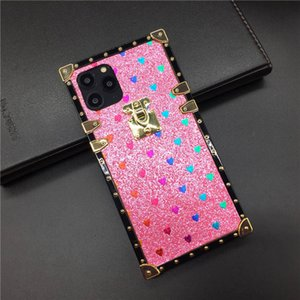 New Fashion designer Phone Case for Samsung S20 Ultra S10 S9 Note 10 9 iphone Xs 11 pro max High Quality silicone Glitter Phone Cover