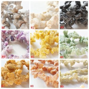 HJz6V DIY material accessories beads scattered beads earrings necklace semi-crystal cave stone Diy Accessory broken stone crystal teeth brok