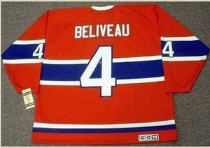 Custom Men Youth women Vintage #4 JEAN BELIVEAU Montreal Canadiens 1968 CCM Hockey Jersey Size S-5XL or custom any name or number