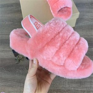 Women Furry Slippers Australia Fluff Yeah Slide designer Casual Shoes Boots Fashion Womens Sandals Fur Slides Slippers Size 35-42