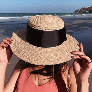 female summer Korean holiday hipster beach flat Sunscreen straw top sunscreen hat leisure all-match straw hat