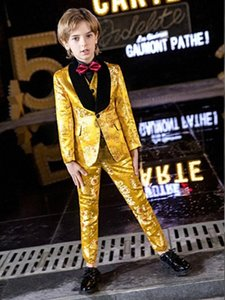 YuanLu 3PCS Blazer Kids Suit For Boy Formal Costume Toddler Clothes British Style For Party Wedding Piano Prince Dress T0kd#