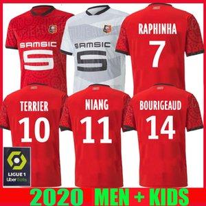20 21 Rennes soccer jersey 2020 2021 28 Raphinha Niang Terrier J.MARTIN Stade Rennais FC BOURIGEAUD home away men kids kit football shirts