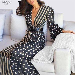Boho Womens Half Sleeve Wave Point Fashion Dress Ladies Casual Evening Paty Long Dress Women Aug15 Designer Clothes
