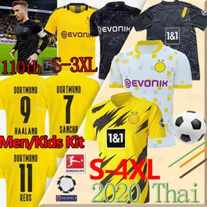 HAALAND 20 21 Borussia Dortmund futbol forması TEHLİKESİ REUS 110. yıl dönümü BRANDT SANCHO Götze REYNA Britische Thai fußballtrikots