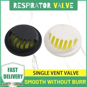 Anti-poussière Haze respiration carbone Masque respiratoire Filtre Valve avec joint de rechange respiratoire Valve en plastique Pièces simple soupape d'échappement