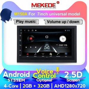 Controle por Voz Android 10 7 polegadas 2Din Unit Radio Universal Car GPS Multimedia Player Para VW Kia Com Wifi 4G LTE BT Car Dvd Melhor Compac WaQY #