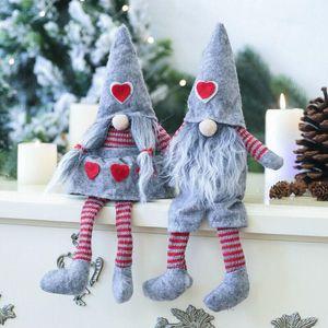 2019 Newest Hot Merry Christmas Long Hat Swedish Santa Gnome Angle Plush Toys Doll Drop Ornament Xmas Tree Decor Kids Xmas Gift