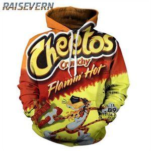 RAISEVERN Flamin Hot Cheetos Imprimir capucha para hombre con capucha de los hombres con capucha Hombre de manga larga con capucha sudaderas con capucha del chándal capa ocasional de sudor
