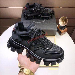 Prada shoes Cloudbust Thunder Örme Sneakers Mens lüks Tasarımcı gündelik ayakkabı Klasik Casual Ayakkabı Kumaş Kauçuk Eğitmenler Açık mens